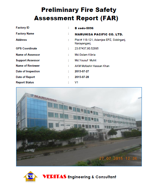 Fire Safety Assessment in Bangladesh